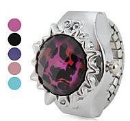transparente das mulheres estilo leopardo liga analógico relógio de pulso de quartzo (cores sortidas)