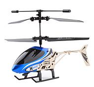 2-kanaals mini-legering infrarood bediening helikopter met led (willekeurige kleuren)