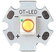 bricolage 3w 210lm 2800-3200k lumière blanche chaude conduit émetteur avec base en aluminium (3,2 3.6v)