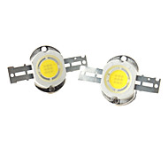 zdm ™ bricolaje 10w 800-900lm 6000-7000K luz blanca natural redonda integrada LED emisor (3-pack, 9-11v)