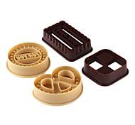Cookie Shaped Biscuit Cutter Mold (4-Pack)