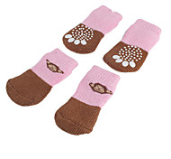 Pink and Brown Monkey Anti-Skid Socks for Dogs (S-L)
