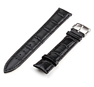 Unisex Genuine Leather Watch Strap 20MM (Black)