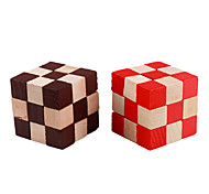 Irregularly Shaped Wooden 3D IQ Cube (Random Color)