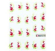 3 Stück ein halb bedecken Aloe Stil Nail Art Nail Sticker