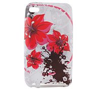 Flowers Pattern TPU Case for iPod Touch 4 (Multi-Color)