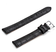 Unisex Genuine Leather Watch Strap 18MM(Black)