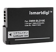 Ismartdigi Replacement Battery DMW-BLD10E for Panasonic DMC-GF2, G3, GX1