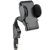 Car Charger with Holder for Samsung Galaxy S3 I9300 (Black)