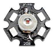 Epistar 620-630nm 1w 25-35lm 350mAh vermelho levou luz com placa de alumínio (2,2-2.4V)