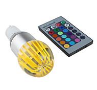 GU10 3 W 1 High Power LED 300 LM RGB / Color-Changing Remote-Controlled Globe Bulbs AC 85-265 V