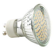 3W GU10 Spot LED MR16 60 SMD 3528 230 lm Blanc Chaud AC 100-240 V