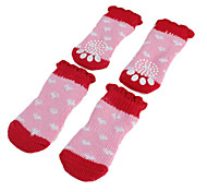Dog Socks & Boots Spring/Fall - Pink Cotton