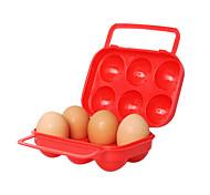 plástico de 6 ovos recipiente (cor aleatória)