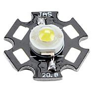 Bridgelux 3200-3500k 1w 100-350mAh 110lm lâmpada luz branca quente levou com chapa de alumínio (3,0-3.4V)