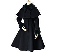 Manga larga Lolita Aristocrat Velvet Coat con mantón