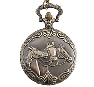 Men's Horse Alloy Analog Quartz Pocket Watch (Bronze)