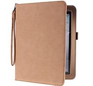 Cord pu Ledertasche mit Ständer für iPad 2/3/42 (farblich sortiert)
