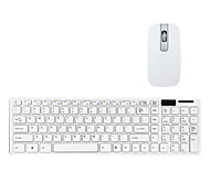 Ultra-Thin 2.4G Wireless QWERTY Keyboard and Mouse Kit with Keyboard Cover
