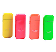 Fluorescence Color Butane Lighter with Grinding Wheel (Random Color)