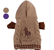 Maglioncino con cappuccio motivo cavallo, per cani (XS-XL) - Colori assortiti