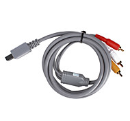 s-video cable AV para el wii / wii u (gris)
