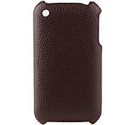 Litchi Pattern Hard Case for iPhone 3G and 3GS (Brown)