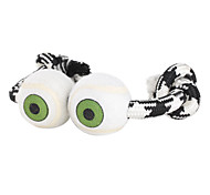 Two Eye Style Dogs Toy with Rope