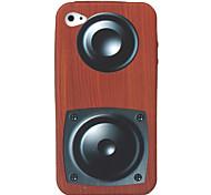 Ретро громкоговорителя окно шаблона мягкий чехол для iphone 4 и 4s