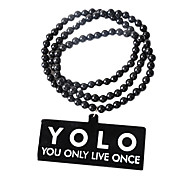 """TOLO You Only Live Once"" Acrylic Necklace"