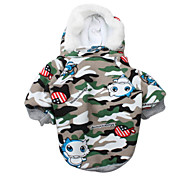 Camouflage Style Downy Jacket with Hoodie for Dog (S-L)