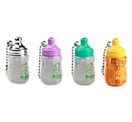 Feeding-Bottle Shape Windproof Keychain Butane Lighter (Random Color)