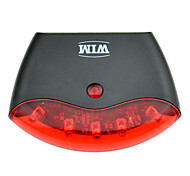 5-LED 4-Mode Red Plastic Bicycle Tail Light Safety Rear Light(Black)