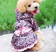 Graceful Rose Abiti Style Felpa con cappuccio per cani (XS-XL)
