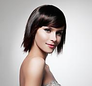 capless nature synthétique de haute qualité moyenne regard noir perruque cheveux raides (0463-286)