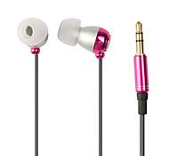 tapón metálico mini estéreo en la oreja los auriculares para el iPhone, iPad, iPod y otros teléfonos celulares (colores surtidos)