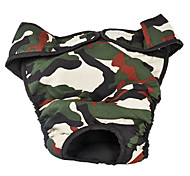 Adjustable Camouflage Pattern Sanitary Pant for Big Dogs (L-XL)