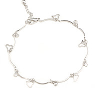 Heart Shape Zircon-Studded Anklet