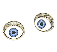 Gun Color Plated Eyes Alloy Gem Earrings
