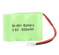 Ni-MH AA pilas (3,6 V, 800 mAh)
