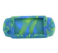 Camuflaje piel de silicona proteger caso para Sony PSP 3000
