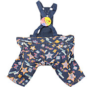 Star Pattern Trouser Slacks for Dogs (Blue,XS-M)