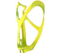 Ciclismo 3K Carbono Weave gaiola garrafa de fibra (Amarelo)