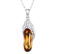 Slippers Crystal And Zircon Necklace