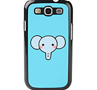 Cartoon-Stil Elephant Pattern Hard Case für Samsung Galaxy S3 I9300