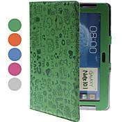 Caso di copertura protettiva in PU con supporto per Samsung Galaxy Note N8000 10,1