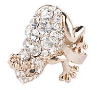 Bling Bling Style Rhinestone Studded Frog Ring