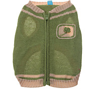 Zipper Flowery Style Sweater for Dogs (Assorted Color,XS-XL)