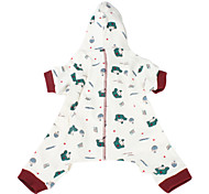 Dog Hoodie / Clothes/Jumpsuit White Dog Clothes Spring/Fall Characters