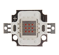 DIY 10W 400-500LM Red Light 620-625NM Square Integrated LED Module (6-8V)